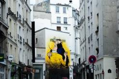 Tintin et le capitaine Haddock l'art dans le deuxième arrondissement